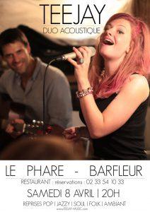 Barfleur concert Teejay - resto Le phare 8 avril 2017