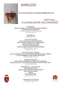 Barfleur festival A la Rencontre des langages 14-20 août 2017