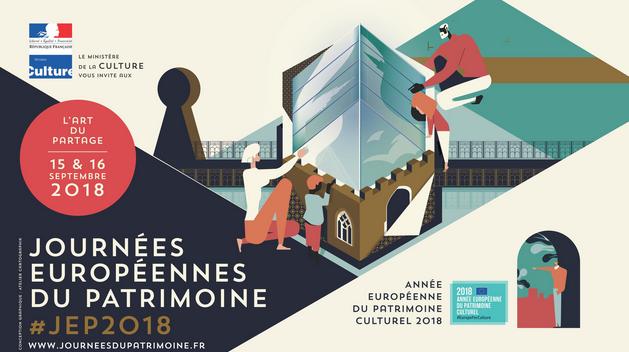 Affiche Journées Européennes du Patrimoine 2018 paysage