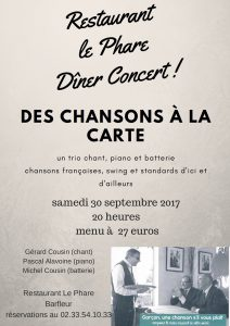 Barfleur Diner concert 30 septembre 2017