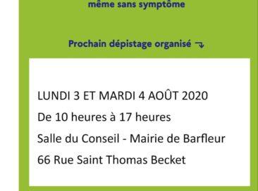 TEST GRATUIT COVID-19 à BARFLEUR