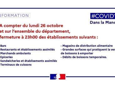 COVID-19 : Mesures sanitaires complémentaires dans le département de la Manche