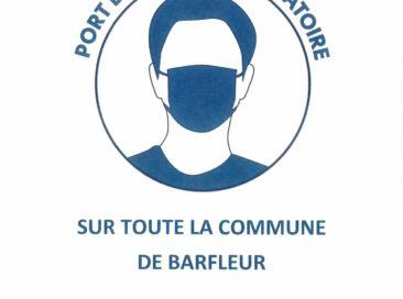 Port du masque obligatoire sur la commune de Barfleur !