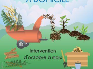 l'Agglomération du Cotentin propose une prestation de broyage des branchages