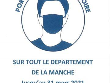 Port du masque obligatoire dans tout le département jusqu'au 31 mars 2021 !