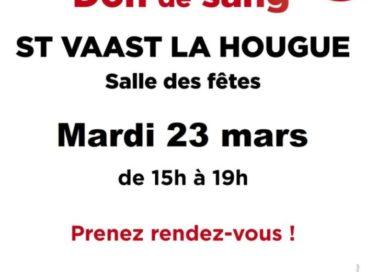Don de sang le 23 mars 2021 : prenez rendez-vous !